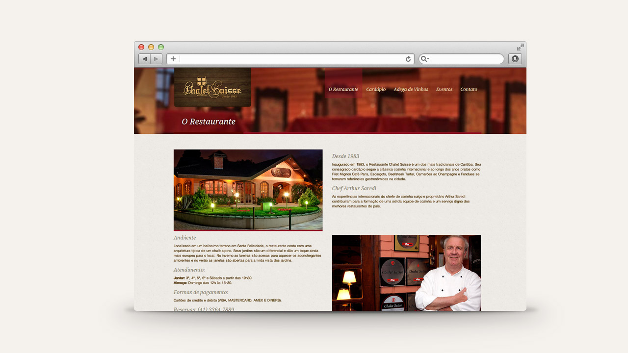 Chalet Suisse Restaurant – Website