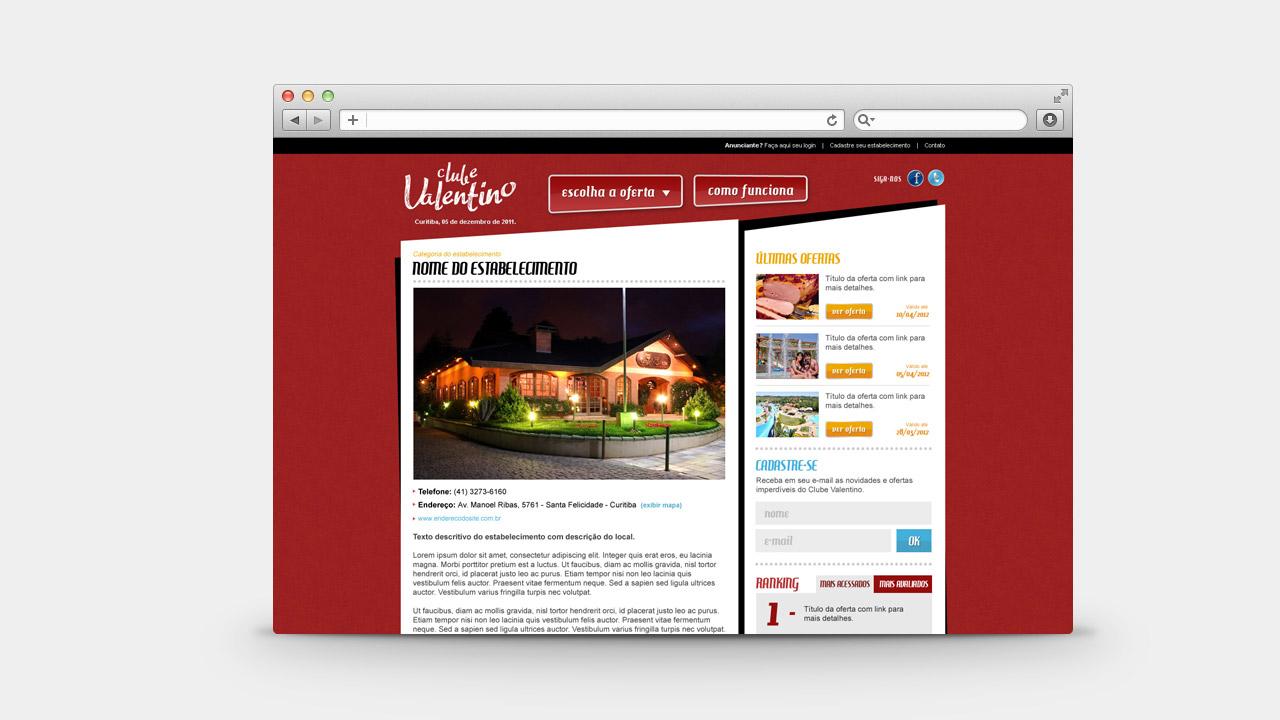 Clube Valentino – Discount Voucher Website
