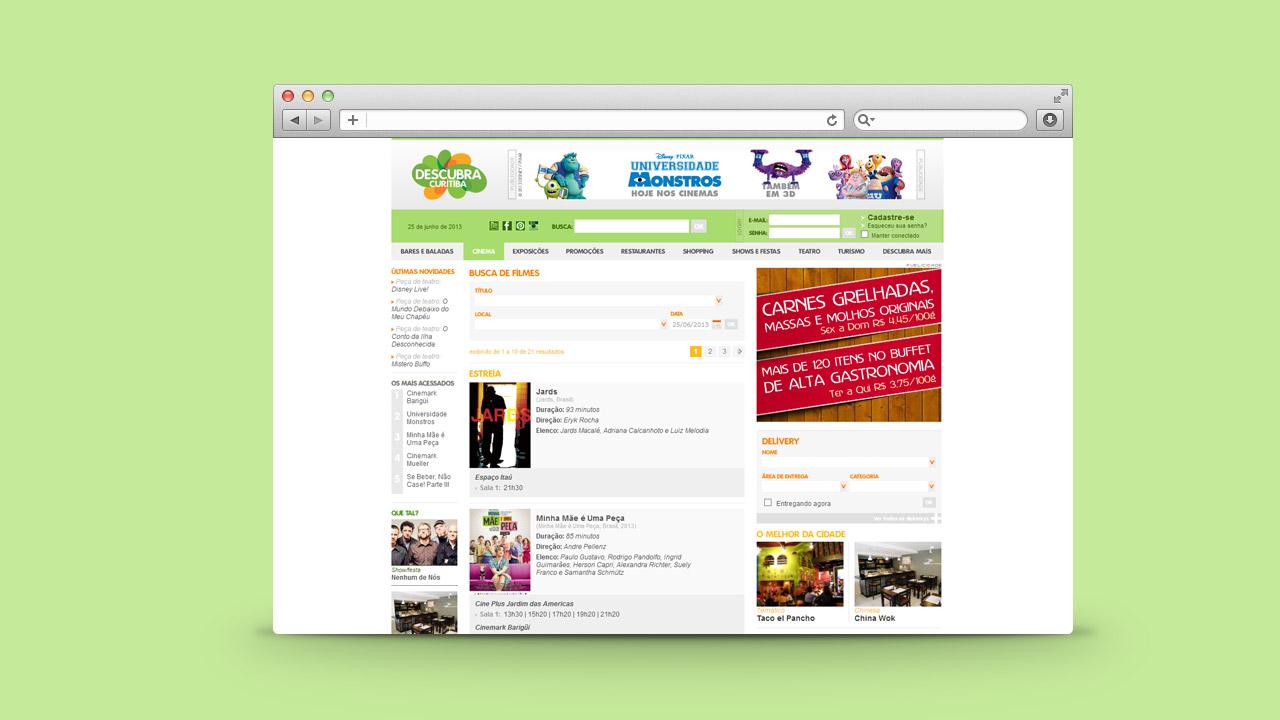 Descubra Curitiba – Website