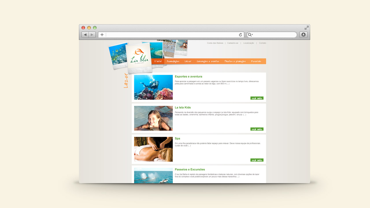 La Isla Ecoresort – Website