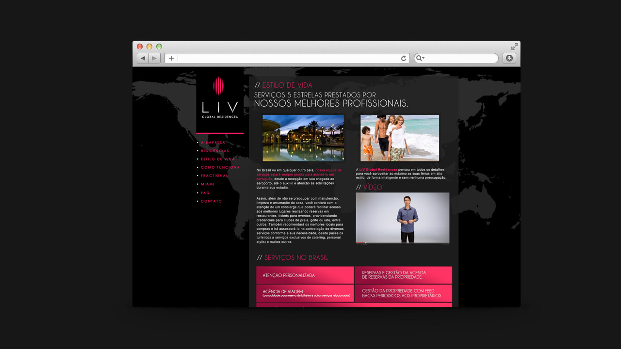 LIV Global Residences – Website