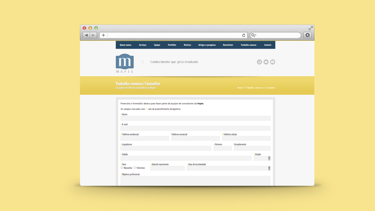 Mapie – Website and Job Application System