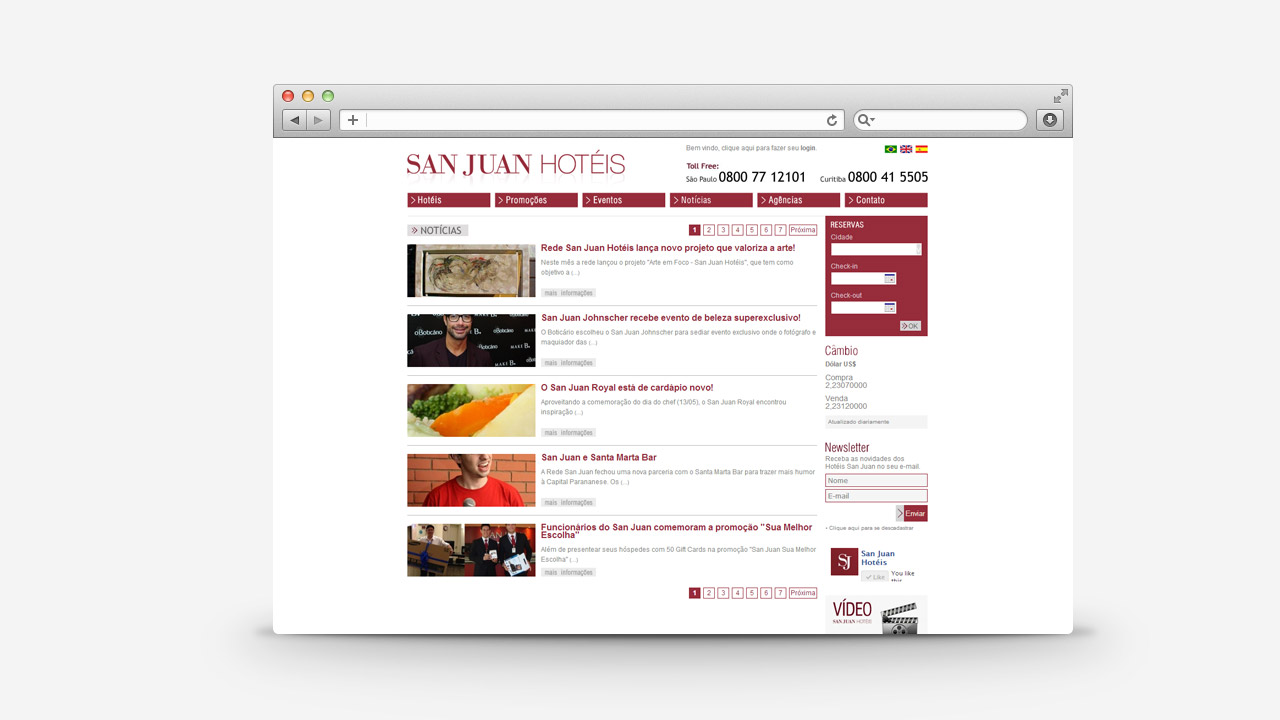 San Juan Hotels – Website and Online Booking System