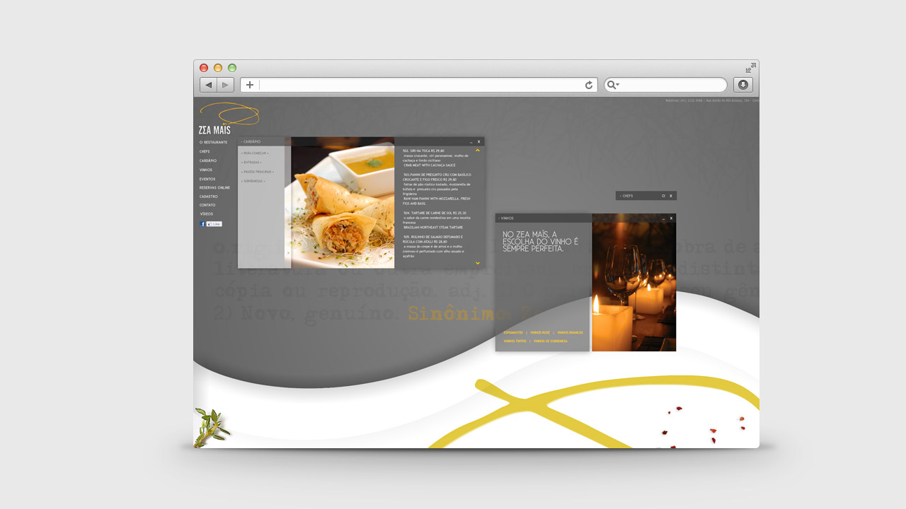 Zea Maïs Restaurant – Online Communication
